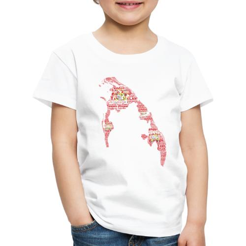 TamilEelam Text Design red - T-shirt Premium Enfant