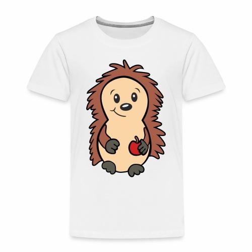 Igel mit Apfel in der Hand - Kinder Premium T-Shirt
