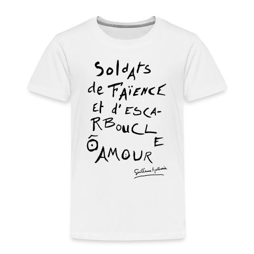 Calligramme - Soldat de faillance - T-shirt Premium Enfant