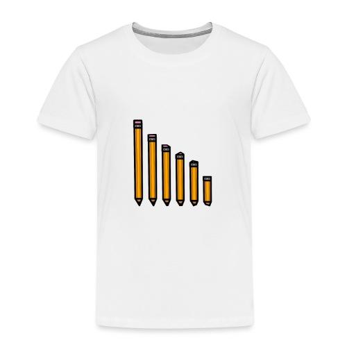 pencil evolution - Kids' Premium T-Shirt