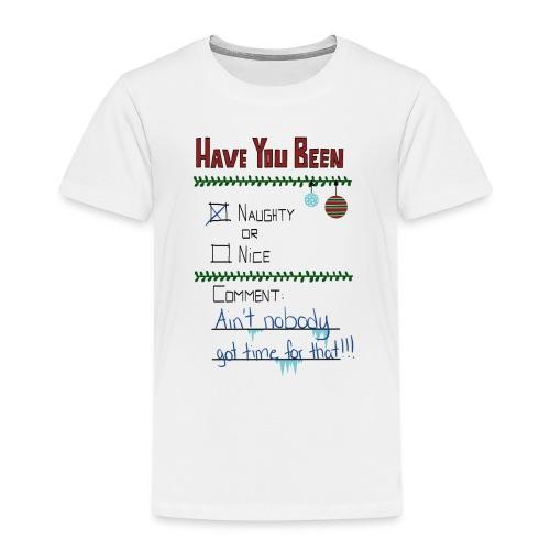The Naugthy or Nice List - Børne premium T-shirt