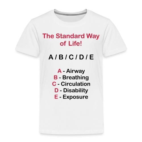 Rettungsdienst ABC Schema - Kinder Premium T-Shirt