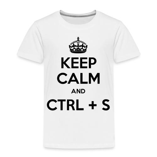 Keep Calm and CTRL+S - T-shirt Premium Enfant