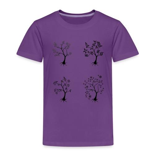 Vuodenajat - Lasten premium t-paita