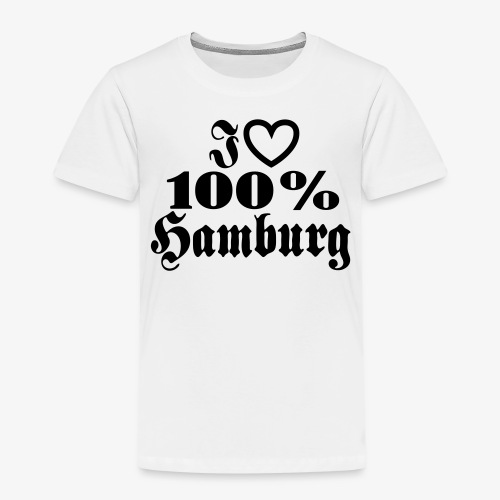 I love 100% Hamburg 1c / Herz - Kinder Premium T-Shirt