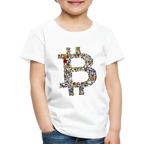 BITCOIN logo color - Kinderen Premium T-shirt