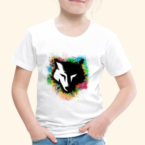Loup coloré - T-shirt Premium Enfant