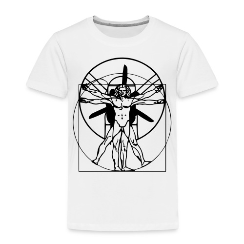 Leonardo da Vinci Vitruvian PPG Man - Kinder Premium T-Shirt