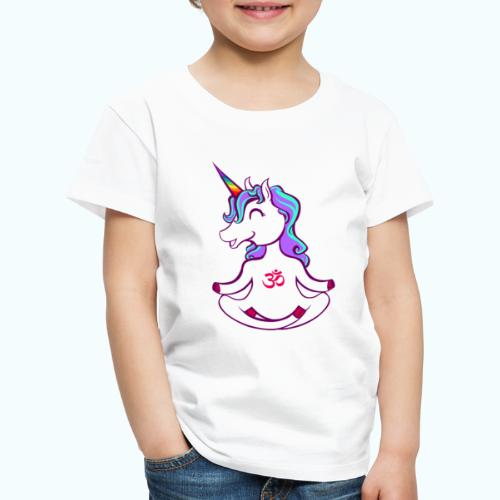 Unicorn meditation - Kids' Premium T-Shirt