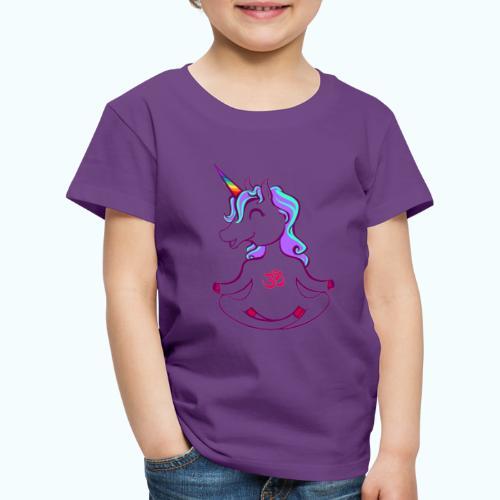 Unicorn meditation - Kids' Premium T-Shirt