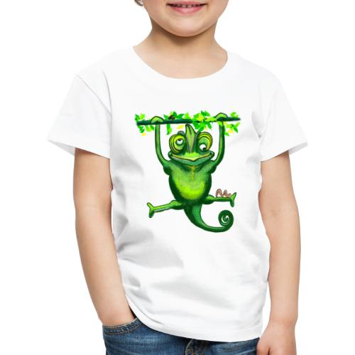 Hunting green chameleon print / design - Kids' Premium T-Shirt