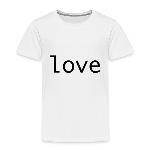 love - Premium-T-shirt barn