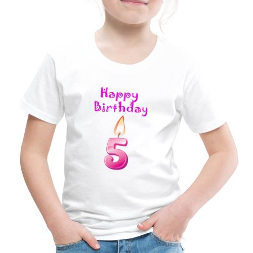 5 five with Candlelight Happy Birthday Geburtstag - Kinder Premium T-Shirt