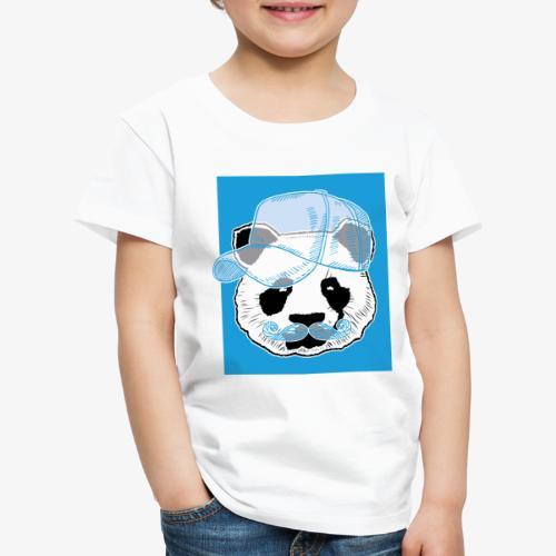 Panda - Cap - Mustache - Kinder Premium T-Shirt