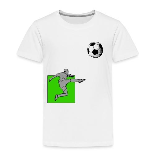 Fußball mit Grün - Kinder Premium T-Shirt