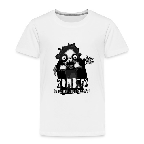 zombies - the only meat eaters i truly respect sv - Premium-T-shirt barn
