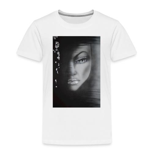 The girl in the sadow - Premium-T-shirt barn