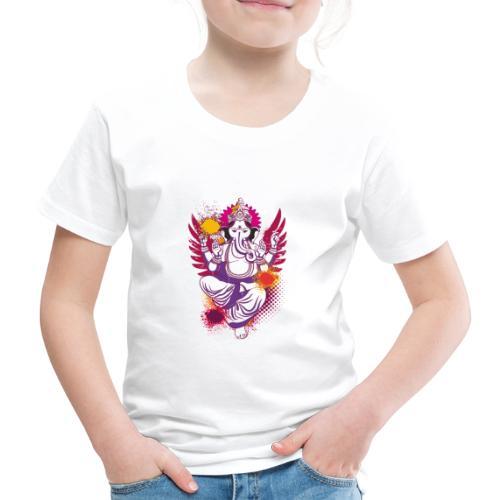 Ganesha farbenfroh dein Glücksgott - Kinder Premium T-Shirt