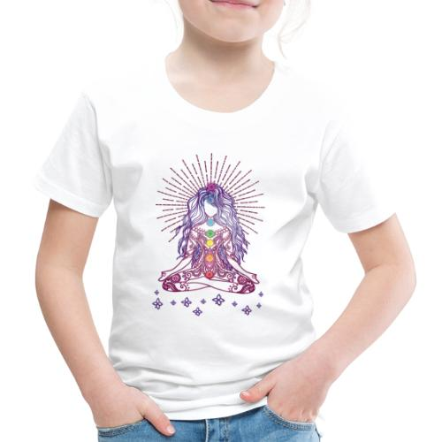 Boho Yoga Style Mädel Happy Mind Happy Life - Kinder Premium T-Shirt