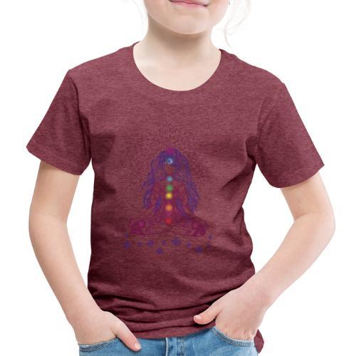 Boho Yoga Style Mädel Happy Mind Happy Life - Kinder Premium T-Shirt
