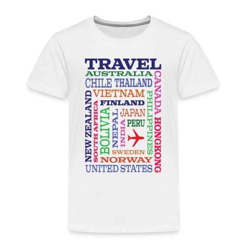 Travel Places design - Lasten premium t-paita
