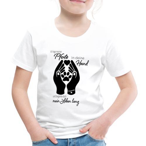 Ich lege meine Pfote in deine Hand Hund Geschenk - Kinder Premium T-Shirt
