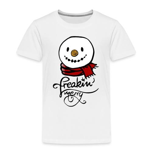 Freaking merry Schneemann roter Schal Weihnachten - Kinder Premium T-Shirt