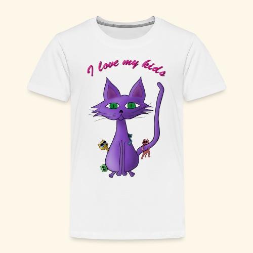i love my kinds - Kinder Premium T-Shirt