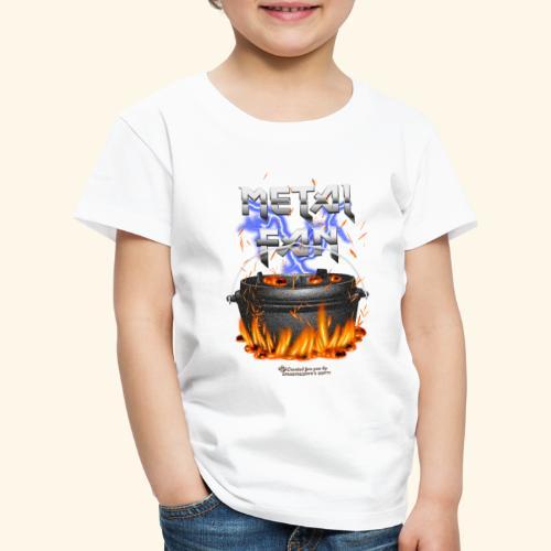 Metal Fan | ▶ Visit Dutch Oven T-Shirts - Kinder Premium T-Shirt