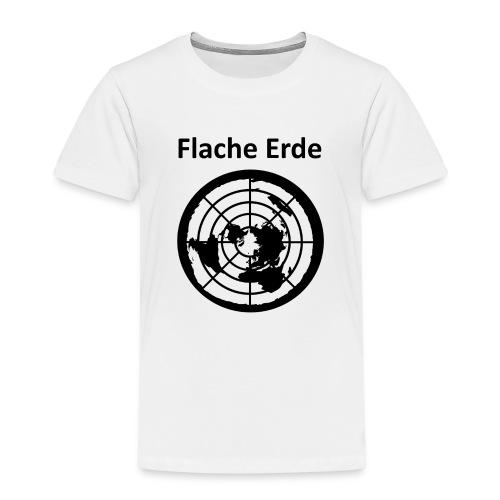 Flache Erde mit Schriftzug - Kinder Premium T-Shirt