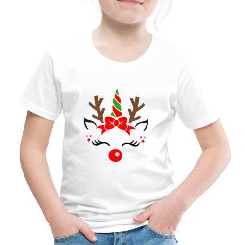 Licorne renne de Noël - T-shirt Premium Enfant