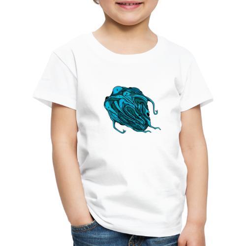 Flying blue blob - Kids' Premium T-Shirt