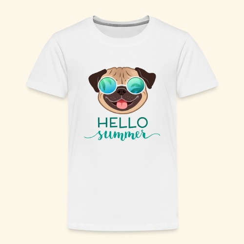 Summer Pug - Kids' Premium T-Shirt
