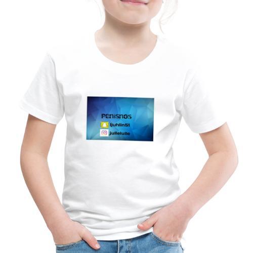 Penisnos merch med snap och ig - Premium-T-shirt barn