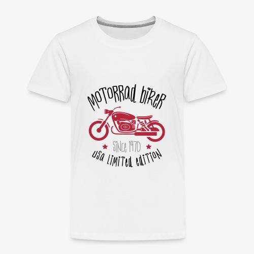 Motorrad Biker USA 1970 - Kids' Premium T-Shirt