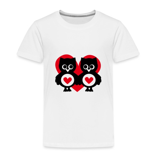 verliebte Eulen - Kinder Premium T-Shirt