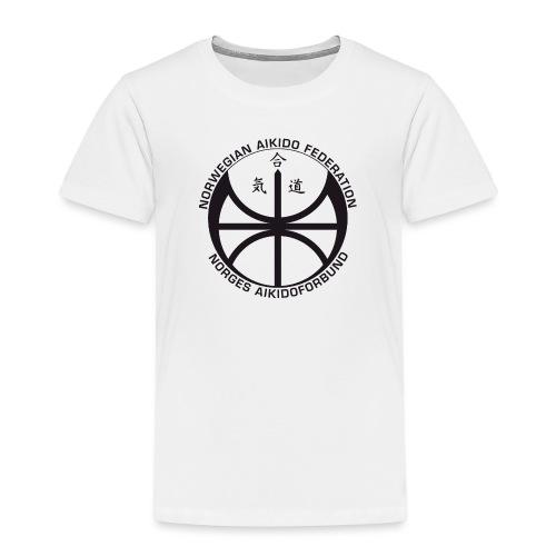 Svart NAF logo - Premium T-skjorte for barn