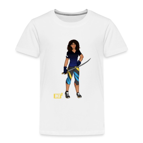 Sabre fencer - Kids' Premium T-Shirt