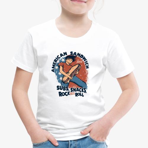 American Sandwich Rocker dunkel - Kinder Premium T-Shirt
