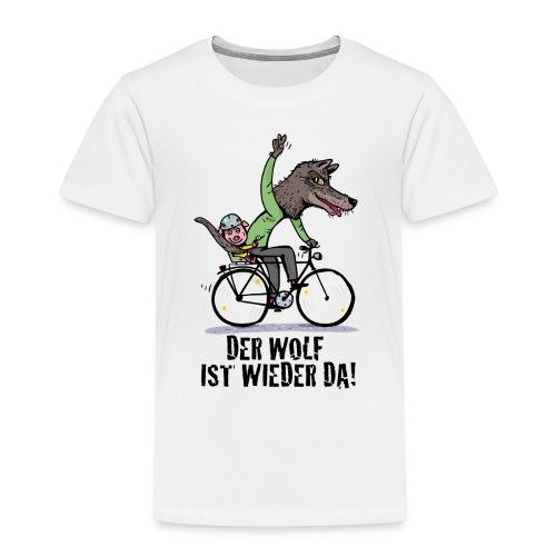 Wolf und Schweinchen - Kinder Premium T-Shirt