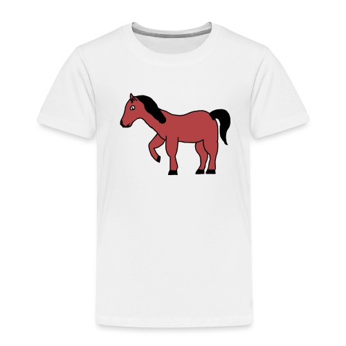 pferd Pony Reiten - Kinder Premium T-Shirt