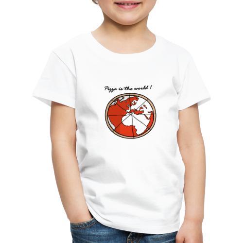 Mondo a forma di pizza - Maglietta Premium per bambini