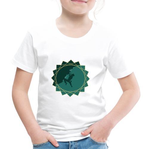Kletterer beim Klettern - Kinder Premium T-Shirt