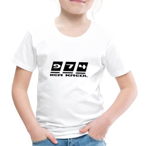Logo écriture 974 Ker Kreol - T-shirt Premium Enfant