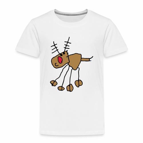 awesome kids rudolph reindeer - Kids' Premium T-Shirt