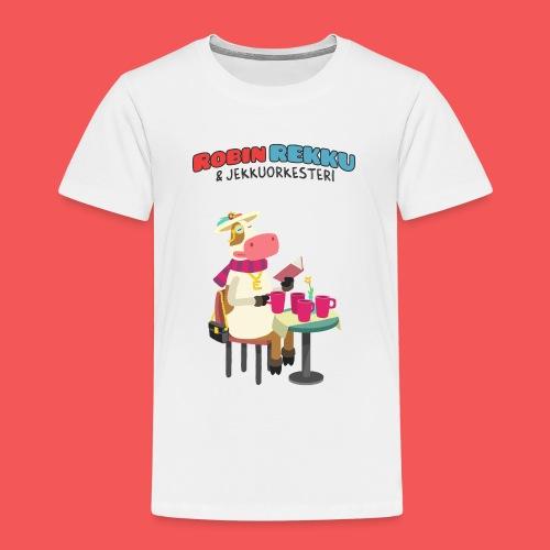 Kossa Lukee - Lasten premium t-paita
