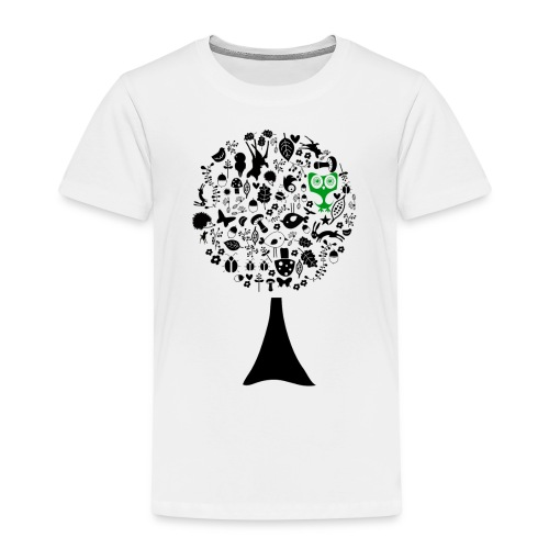 baum // eule grün - Kinder Premium T-Shirt