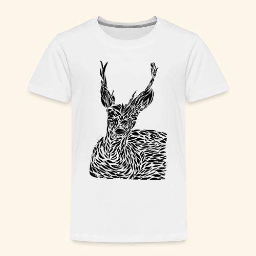 deer black and white - Lasten premium t-paita