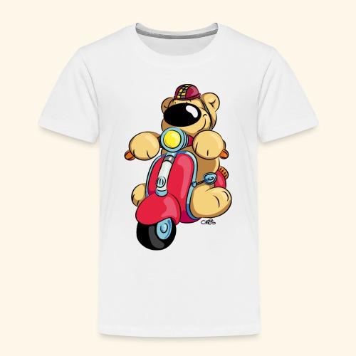 Der Bär fährt Roller - Kinder Premium T-Shirt