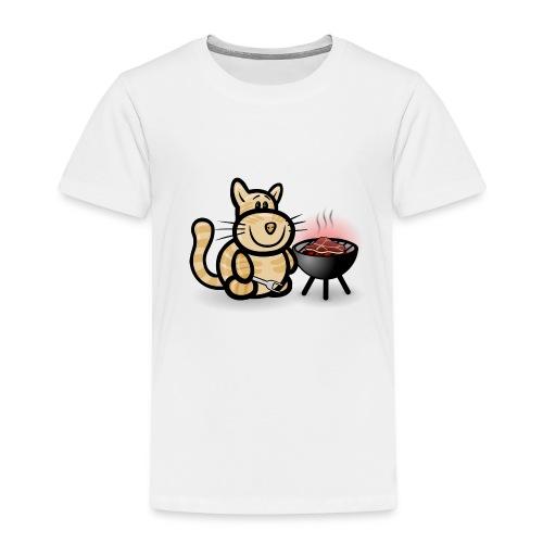 Katze beim Grillen - Kinder Premium T-Shirt